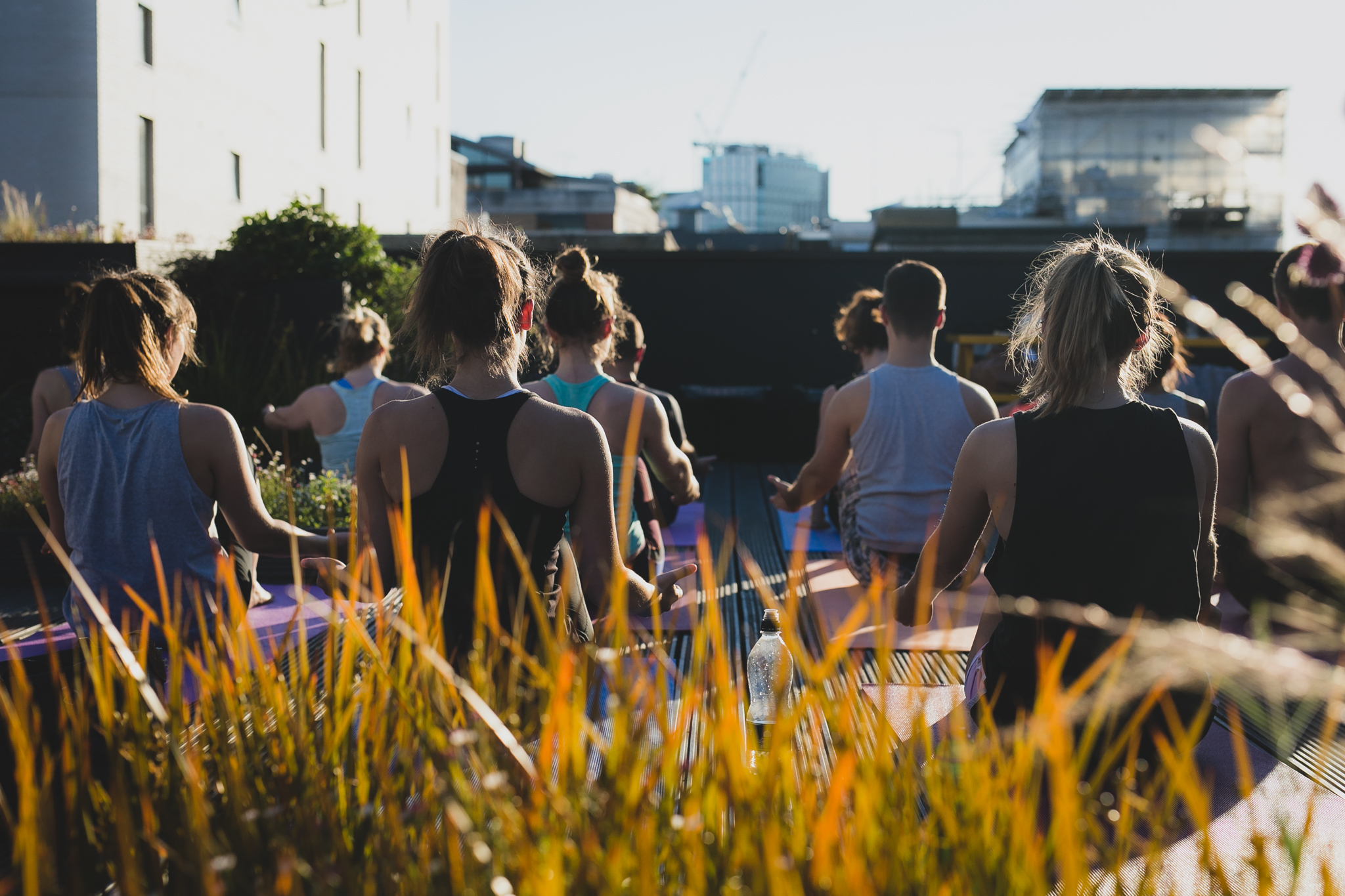 Rooftop Yoga London!